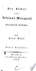 Der Komet  oder Nikolaus Marggraf