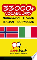 33000  Norwegian   Italian Italian   Norwegian Vocabulary
