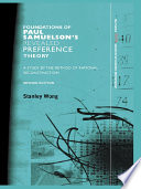 Foundations of Paul Samuelson s Revealed Preference Theory