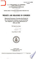 Weights and Measures in Congress