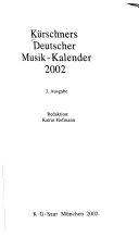 Kurschners Almanac of German Musicians 1