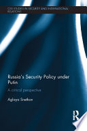 Russia s Security Policy under Putin