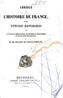 Abr  ge de l Histoire de France