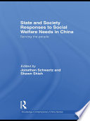 State And Society Responses To Social Welfare Needs In China book