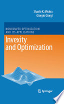 Invexity And Optimization book