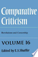 Comparative Criticism  Volume 16  Revolutions and Censorship
