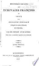 Biblioth  que portative des   crivains fran  ais