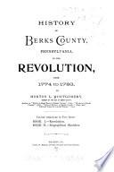 History of Berks County, Pennsylvania