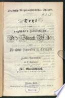 Text zur englischen Pantomime  Old Isaack Walton  oder  Die sieben Schwestern in Tottenham