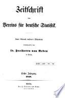 Zeitschrift des Vereins für deutsche Statistik