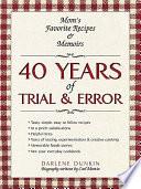 40 Years of Trial   Error