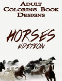 Horse Adult Coloring Book Designs