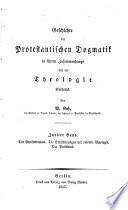 Geschichte der protestantischen Dogmatik