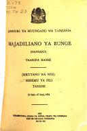 Majadiliano ya Bunge  taarifa rasmi  Hansard