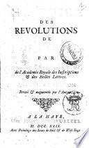 Histoire des révolutions de Portugal, par M. l'abbé de Vertot ..