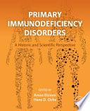 Primary Immunodeficiency Disorders