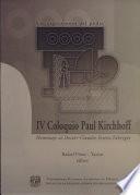 IV Coloquio Paul Kirchhoff