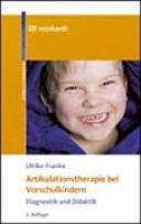 Artikulationstherapie bei Vorschulkindern