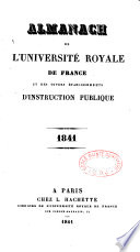 Almanach de l Universite Royale de France  et des Divers Etablissements d Instruction Publique