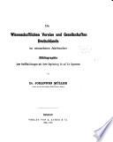 Die wissenschaftlichen Vereine und Gesellschaften Deutschlands im neunzehnten Jahrhundert