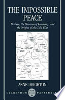 Ebook The Impossible Peace Epub Anne Deighton Apps Read Mobile
