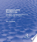 Unspeakable Sentences  Routledge Revivals