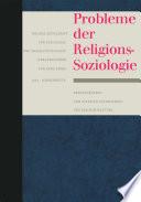 Probleme der Religionssoziologie
