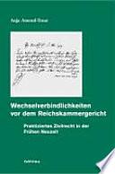 Wechselverbindlichkeiten vor dem Reichskammergericht