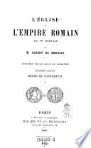 L'eglise et l'empire Romain au IVe siecle