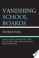 Vanishing School Boards