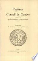 Register du Conseil de Geneve