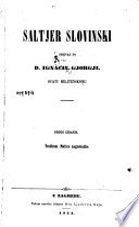 Saltjer slovinski spievan po D. Ingaciu Gjorgji