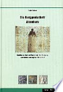 Die Burggrafschaft Altenburg