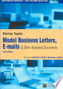Model Business Letters  E mails   Other Business Documents