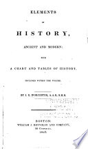 Elements of History, an Ancient and Modern: with a Chart and Tables of History, Included with the Volume