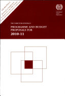The Director-general's Programme and Budget Proposals for 2010-11
