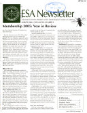 Entomological Society Of America Newsletter