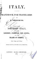 Italy : Handbook for Travellers