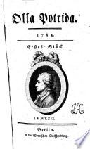 Olla Potrida hrsg. von H(einrich) A(ugust) (Ottokar) Reichard und anderen
