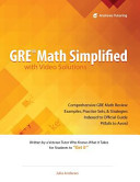 Gre Math Simplified With Video Solutions