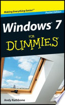 Windows 7 For Dummies Pocket Edition