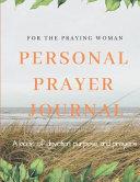 Personal Prayer Journal