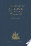 The Letters of F. W. Ludwig Leichhardt Those In German French And