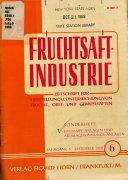 Die Fruchtsaft-Industrie