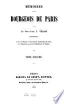 Mémoires d'un bourgeois de Paris