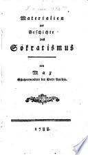 Materialien zur Geschichte des Sokratismus