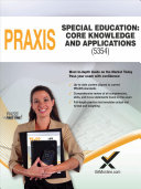 2017 Praxis Special Education  Core Knowledge and Applications  5354