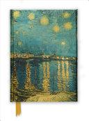 Van Gogh Starry Night Over the Rhone Foiled Journal