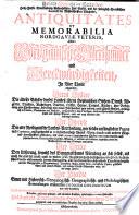 Antiquitates et memorabilia Nordgaviae veteris oder Nordgauische Alterthümer