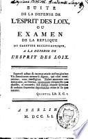 Observations sur l'esprit des lois ou l'art de lire ce livre, de l'entendre et d'en juger
